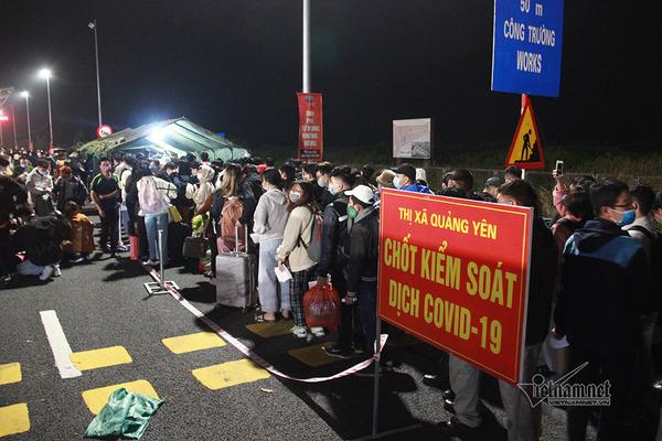 Quảng Ninh tạm dừng các trạm kiểm soát Covid-19 từ 0h ngày mai