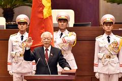 Chủ tịch nước thăng tướng cho 574 sĩ quan quân đội và công an trong nhiệm kỳ