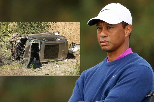 Tiger Woods không đạp phanh trước vụ tai nạn