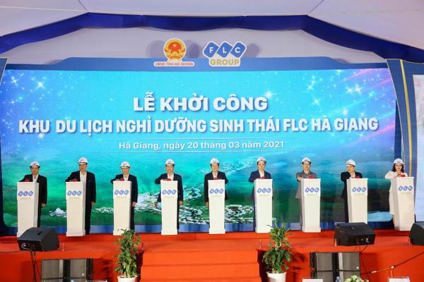 Khởi công Khu du lịch nghỉ dưỡng sinh thái cao cấp FLC Hà Giang