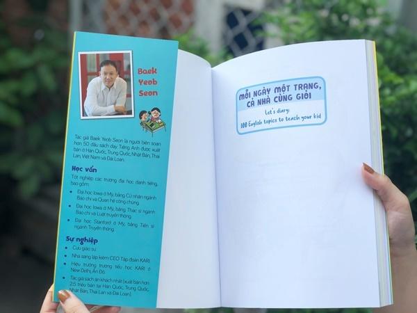 Giáo sư Hàn Quốc dạy viết nhật ký giúp trẻ học tiếng Anh hiệu quả