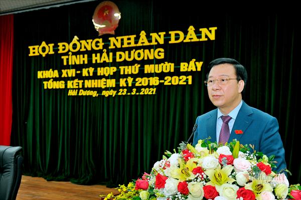 Bí thư Tỉnh uỷ Hải Dương Phạm Xuân Thăng được bầu làm Chủ tịch HĐND tỉnh