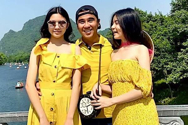 Hai con gái xinh đẹp, chuẩn người mẫu của MC Quyền Linh