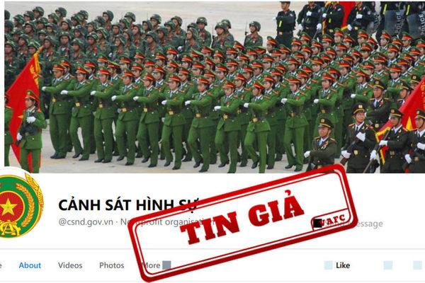 Lập fanpage 'Cảnh Sát Hình Sự' giả mạo kênh thông tin của Bộ Công an