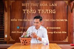 Vườn lan làm từ gỗ độc đáo ở Nha Trang