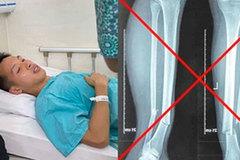 Thực hư ảnh chụp X-quang gãy rời 2 chân gây sốc của Hùng Dũng
