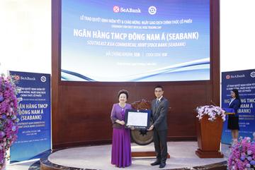 Hơn 1,2 tỷ cổ phiếu SeABank chính thức giao dịch trên sàn HOSE