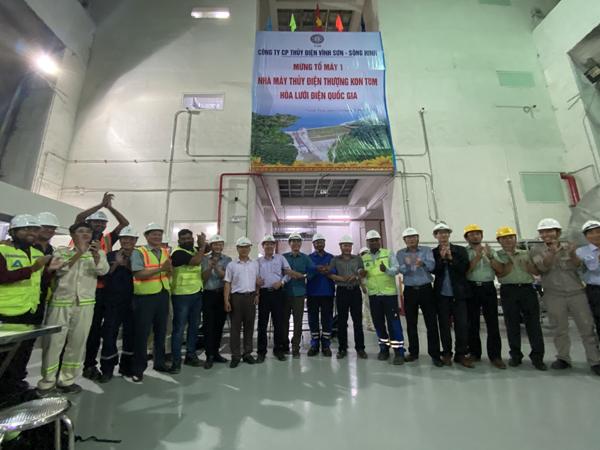 Tổ máy 1 Nhà máy Thủy điện Thượng Kon Tum hòa lưới điện quốc gia