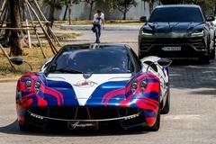 Minh 'Nhựa' lái Pagani Huayra đến buổi họp siêu xe tại TP.HCM