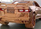 """Màn 'hô biến"""" khối gỗ thành siêu xe Corvette C8 như thật của nghệ nhân Việt"""