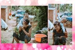 Khoảnh khắc 'người mẹ khờ' chăm con gái khiến người xem rơi nước mắt