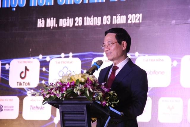 Toàn văn phát biểu của Bộ trưởng Nguyễn Mạnh Hùng tại sự kiện Gặp gỡ ICT đầu xuân 2021
