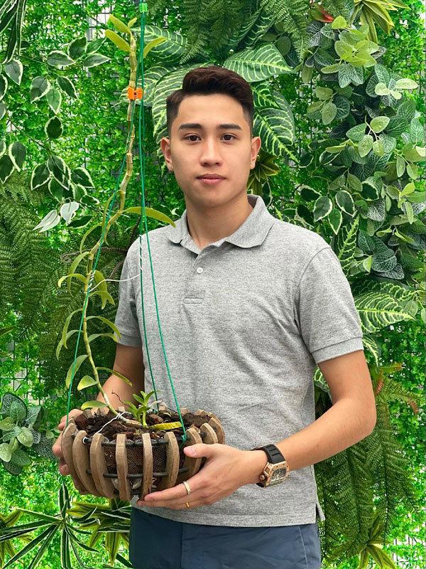 9x điển trai sở hữu vườn lan trăm mét vuông ở Hòa Bình