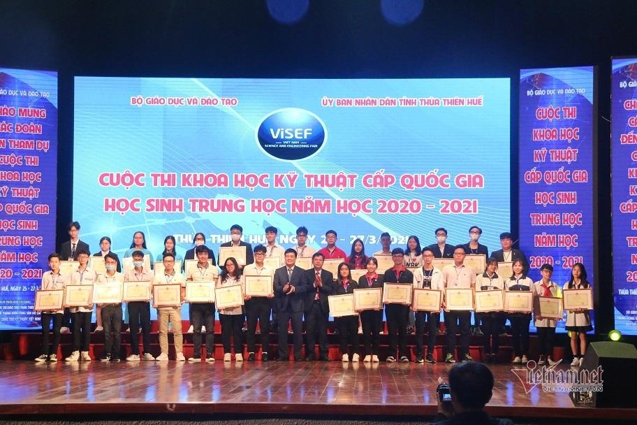 12 dự án giành giải Nhất thi KHKT quốc gia cho học sinh trung học
