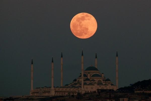Hình ảnh 'siêu trăng giun' trên khắp thế giới