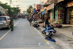 Truy tìm lái xe ba gác tông 2 xe máy, gây chết người rồi bỏ trốn
