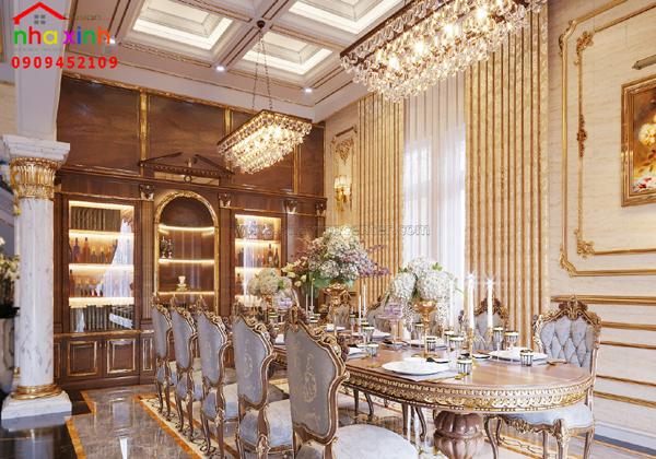 Thiết kế nhà sang trọng với nội thất phong cách hoàng gia