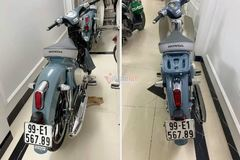 Honda Cub C125 biển số VIP giá 300 triệu đồng tại Hà Nội