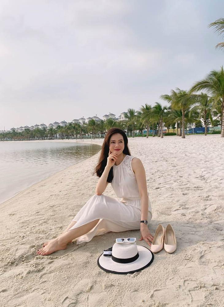 Hình ảnh khác lạ của MC Thu Hương khi không lên sóng VTV