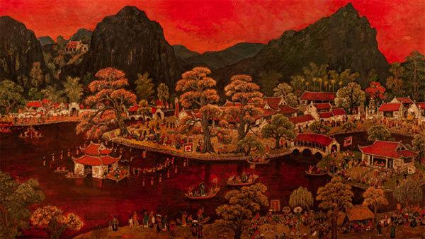 Exhibition,painter Chu Manh Chan