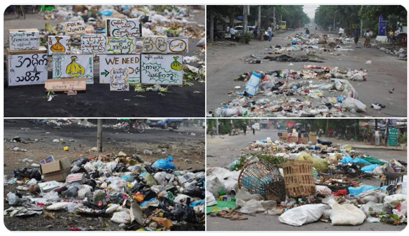 Người Myanmar 'đình công rác thải' phản đối chính quyền quân sự