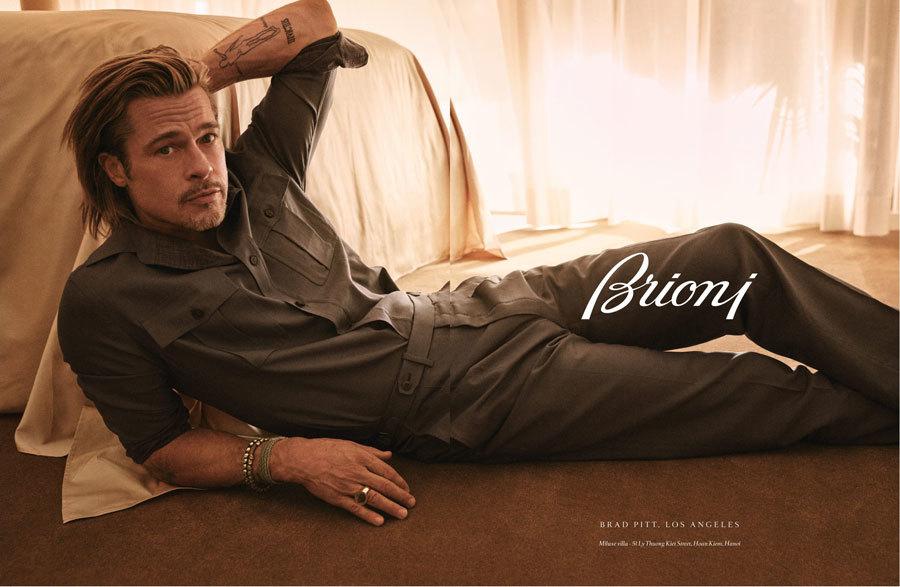 Brad Pitt khoe vẻ lịch lãm khi làm người mẫu