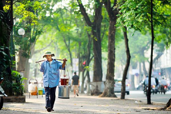 Shoulder pole of street vendors - a charm of Hanoi