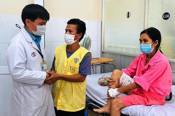 Chị Mỹ Tiên đã cắt bỏ khối u 19kg và xuất viện