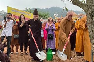 Ngàn cây xanh được trồng tại khuôn viên Học viện Phật giáo Việt Nam