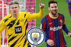 """Man City quyết tâm """"đánh cả cụm"""" Messi và Haaland"""