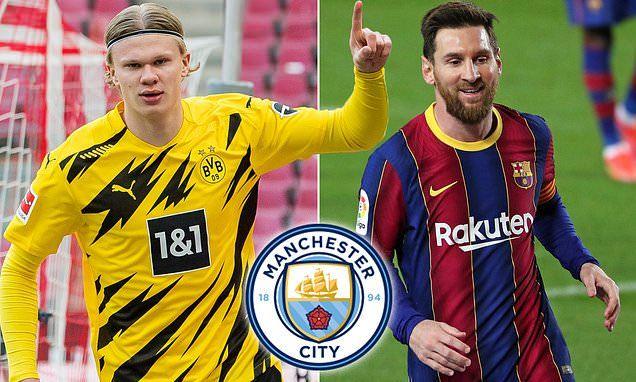 Man City quyết tâm 'đánh cả cụm' Messi và Haaland