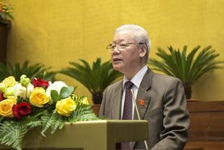 Chủ tịch nước Nguyễn Phú Trọng trình miễn nhiệm Thủ tướng Nguyễn Xuân Phúc