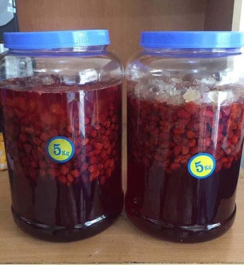 Năm chỉ có một lần, loại quả rừng đỏ au đổ về Hà Nội