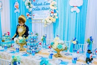 Cô dâu Bạc Liêu trang trí ăn hỏi theo phong cách Doraemon