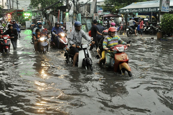 HCM City,water drainage,flood