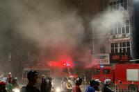 Hiện trường vụ cháy nhà khiến 4 người thiệt mạng ở Hà Nội