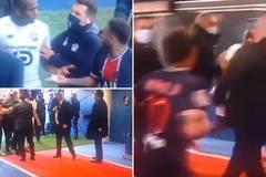 Neymar ăn thẻ đỏ, đánh nhau với đối thủ trong đường hầm