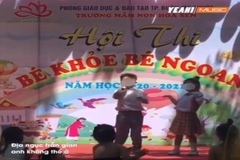 Trẻ mầm non hát 'địa ngục trần gian' ở hội thi Bé ngoan