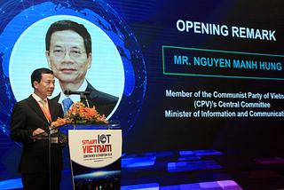 Bộ trưởng Nguyễn Mạnh Hùng nói về IoT