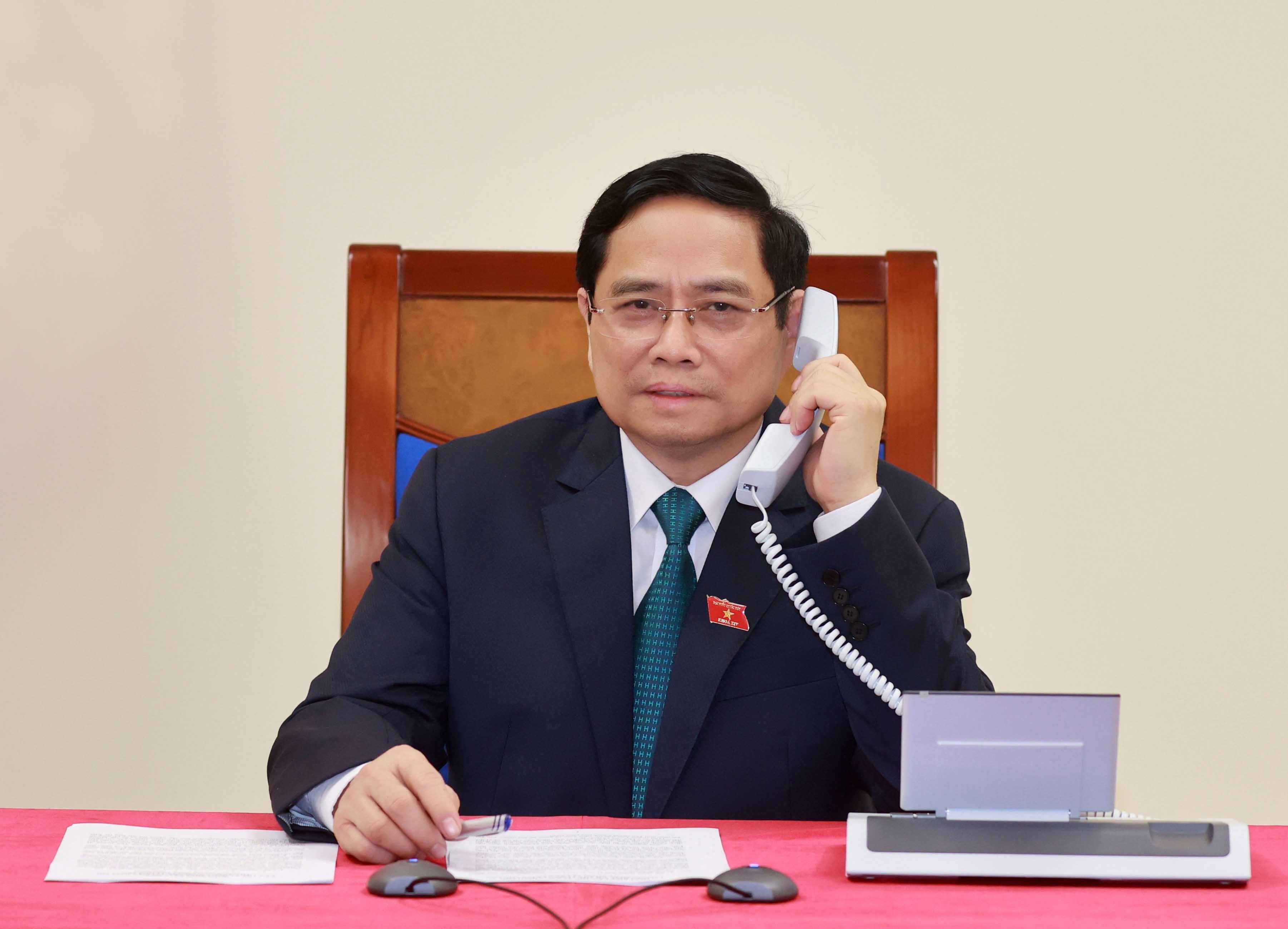 Cuộc điện đàm đầu tiên của tân Thủ tướng Phạm Minh Chính