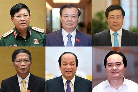 Thủ tướng trình Quốc hội phê chuẩn miễn nhiệm 12 bộ trưởng