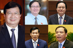 Phó Thủ tướng Trịnh Đình Dũng và 12 bộ trưởng rời ghế ở Chính phủ