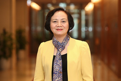 Pham Thi Thanh Tra, the only woman among newly-elected cabinet members