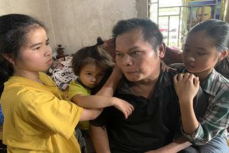 Cha tai nạn cụt chân, liệt giường, 3 đứa trẻ thẫn thờ cầu cứu