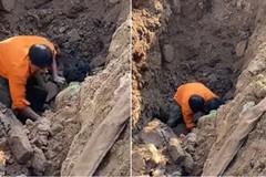 """Đang xác minh việc đào đường phát hiện """"người đàn ông dưới lòng đất"""""""