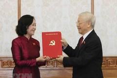 Bộ Chính trị phân công bà Trương Thị Mai làm Trưởng Ban Tổ chức Trung ương