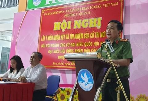 100% cử tri nơi cư trú tín nhiệm giới thiệu Đại tá Nguyễn Sỹ Quang ứng cử ĐBQH