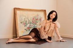 Khánh Linh hoá nàng xuân với trang phục tái chế của NTK Xuân Lê