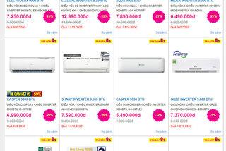 Giảm giá mạnh: Sắm điều hoà 3 triệu, mua tủ lạnh khuyến mãi 50%