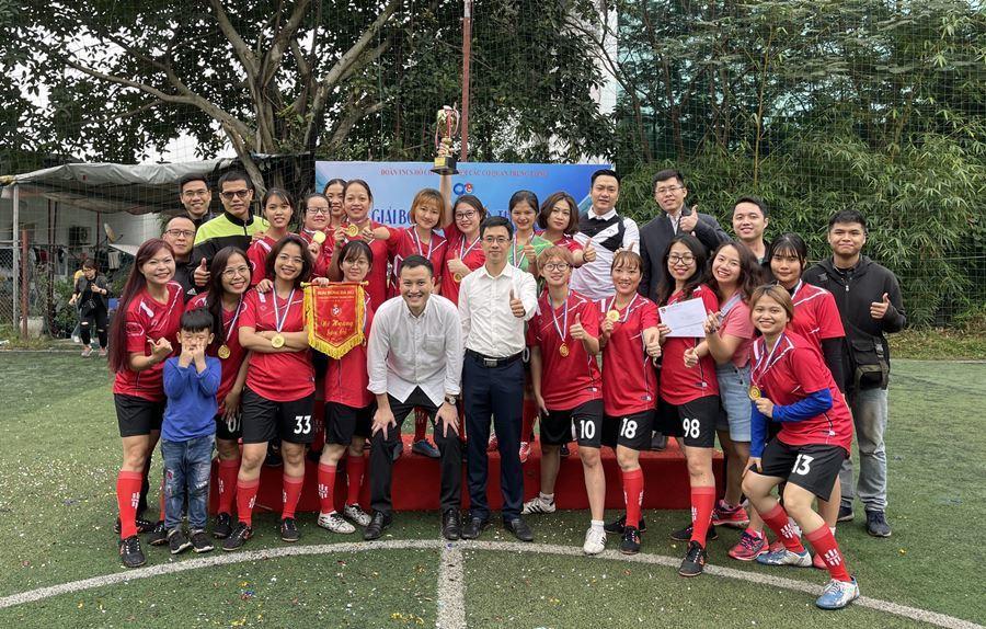 Bộ TT&TT vô địch hạng B giải bóng đá nữ Đoàn Khối lần thứ I